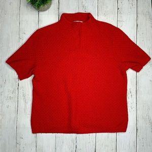 Vintage Pendleton Wool Mock Neck Short Sweater L